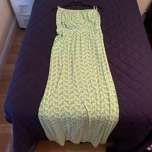 Lilly Pulitzer bee print maxi dress w pockets